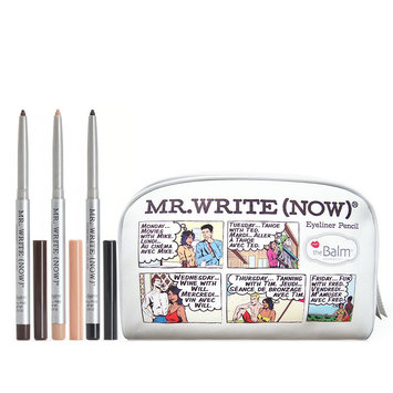 Thebalm the Balm Mr. Write Now 3-pc. Eyeliner Pencil & Bag Gift Set, Black/Beige/Brown (Onyx/Beige/Mocha)
