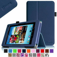 Fintie Premium Vegan Leather Stand Cover with Stylus Loop for Hisense Sero 7 Pro Tablet, Navy