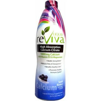 Reviva High Absorption Calcium Citrate Complete Nutrition Smooth Blueberry - 32oz.