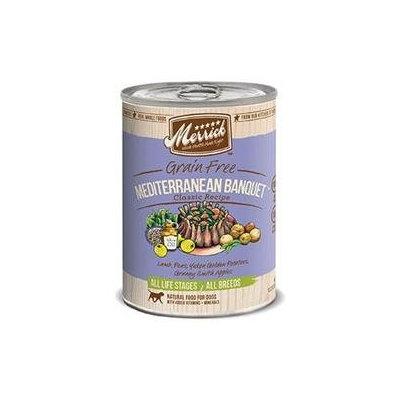 Merrick Can Dog Mediterranean Banquet 13.2 oz Case 12