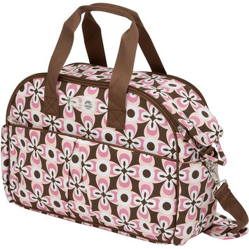 The Bumble Collection Erica Carry-All Diaper Bag - Floral Geo (Pink)
