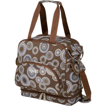 The Bumble Collection Camille Changing Bag - Geometric (Brown)
