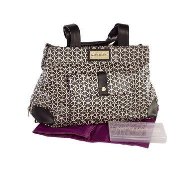CoCalo Kayla Satchel Diaper Bag In Geometric