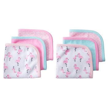 Baby Carter's 6-pk. Animal Washcloths, Pink Flamingo