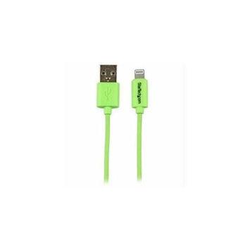 StarTech.com USBLT1MGN StarTech Calbe USBLT1MBL 1m Green Apple 8-Pin to USB for iPhone-iPod-iPad