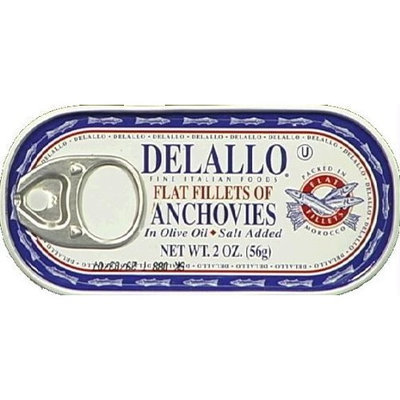 Anchovy Flat Fillet 2 OZ (Pack of 25)
