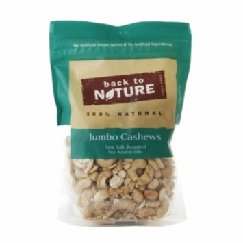 Back to Nature Jumbo Cashews, 10 oz