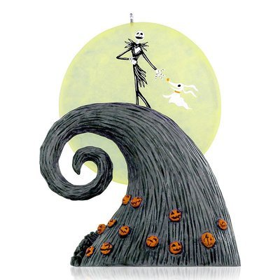 Disney Tim Burton's The Nightmare Before Christmas Here Comes the Pumpkin King Keepsake Ornament by Hallmark (Black)