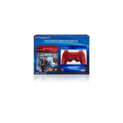 Red Dualshock 3 Bundle with Uncharted 2: Game of the Year Edition