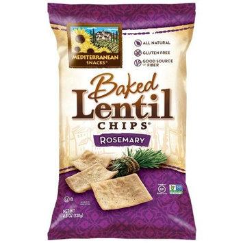 Mediterranean Snacks Rosemary Baked Lentil Chips 4.5-ounce (Pack of 12)