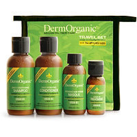 Dermorganic Travel Set w/ Zipper Bag