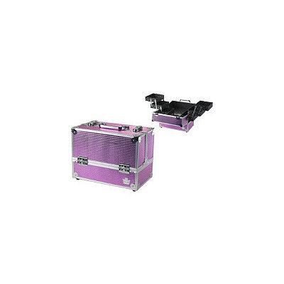 Caboodles Pink Bubble Metallic Stylist Case