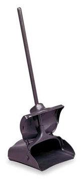 RUBBERMAID FG253204BLA Long Handled Dust Pan, Black,5 In. H