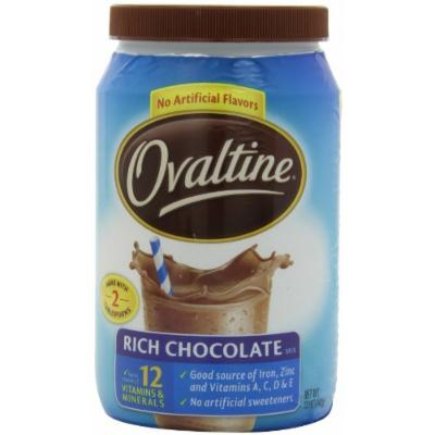 Nestlé Ovaltine Rich Chocolate, 12-Ounce Tubs (Pack of 6)