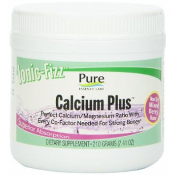 Pure Essence Labs Ionic Fizz Calcium Plus - Perfect Calcium/Magnesium Ratio With Every Co-Factor Needed For Strong Bones - Mixed Berry - 210 Grams