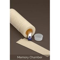 Ceremonial Candles Lilies Unity Candle With Memory Chamber