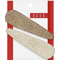 Elle Large Studded Snap Clips 2 Ct