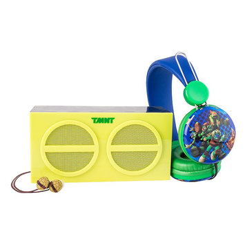 Teenage Mutant Ninja Turtles 3-Piece Stereo Speaker & Headphone Set by Sakar, Multi/None