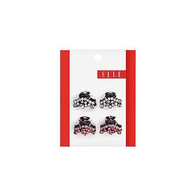 Elle Rhinestone Mini Jaw Clip 4 Ct