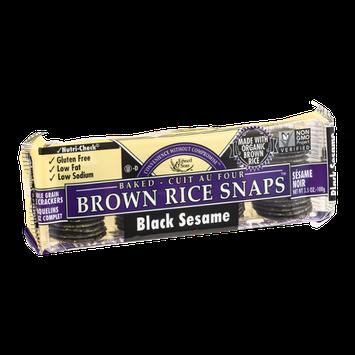 Edward & Sons Brown Rice Snaps Black Sesame