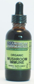 Mushroom Immune No Chinese Ingredients American Supplements 2 oz Liquid