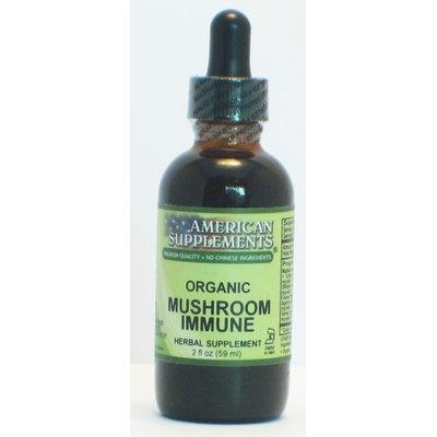 Mushroom Immune No Chinese Ingredients American Supplements 2 oz Liquid