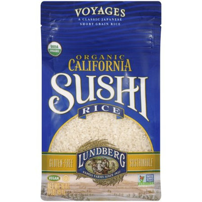 Lundberg Family Farms California Sushi Rice, 1 LB (Pack of 6)