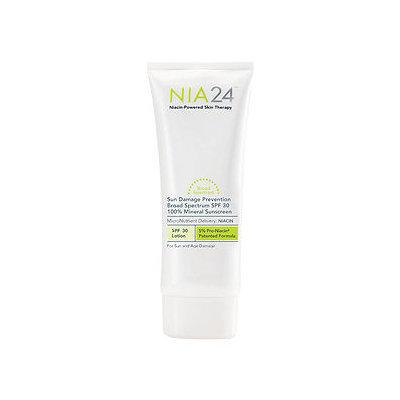 NIA24 Sun Damage Prevention 100% Mineral Sunscreen, 2.5 fl oz