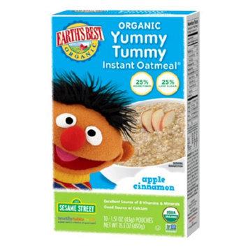 Earth's Best Sesame Street Organic Yummy Tummy Instant Oatmeal