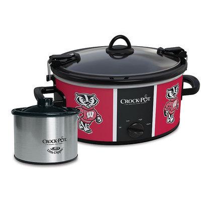 Crock-Pot Cook & Carry Wisconsin Badgers 6-Quart Slow Cooker Set (Wis Team)