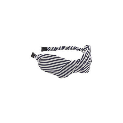 Karina Navy And Beige Stripes Headband