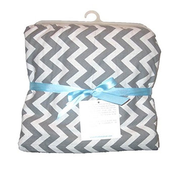 Blue Baby Bum Zig Zag Blanket Grey