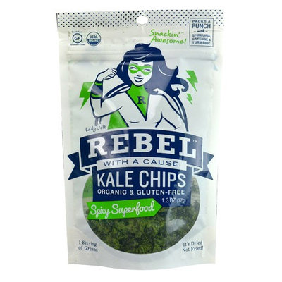 Rebel With A Cause Organic Kale Chips Spicy Superfood 1.3 oz
