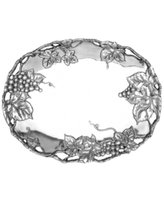 Arthur Court Grape Oval Tray, 18 1/2