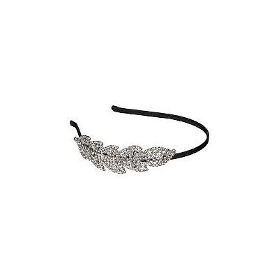 Elle Headband Clear Rhinestone Leaf