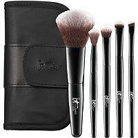 IT Brushes For ULTA Your Face & Eye Essentials Mini 5 Pc Travel Brush Set