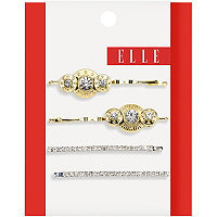 Elle Gold and Silver Bobby Pins 4 Pc.