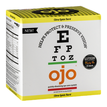OJO Quickly Dissolving Eye Care Crystals Citrus Lutein Burst - 30 CT