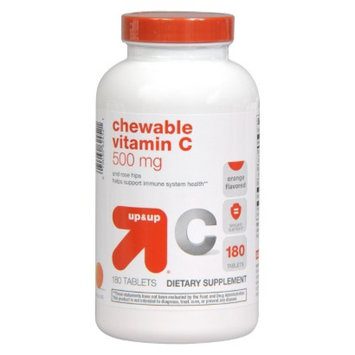 up & up up&up Vitamin C Chewable 500 mg Tablets - 180 Count