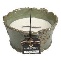 RibbonWick Vintage Ceramic 18-oz. Antique Linen Candle