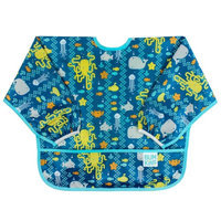 Bumkins Waterproof Sleeved Bib, Sea Friends