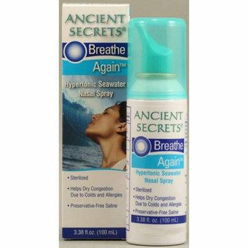 Ancient Secrets Breathe Again Nasal Spray 3.38 fl oz