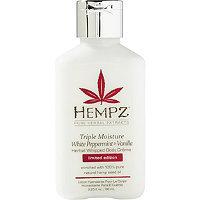 Hempz Travel Size Triple Moist White Peppermint & Vanilla Herbal Whipped Body Crme