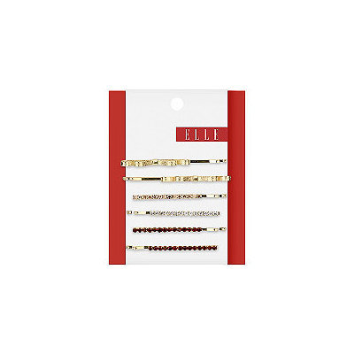 Elle 6 Pk Assorted Gold Bobby Pins