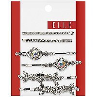 Elle 6 Pk Assorted Silver Bobby Pins