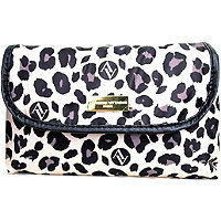 Adrienne Vittadini Fold Out Cosmetic - Sand Leopard