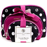 Adrienne Vittadini Dome Shaped with Bow - Pink/Polka Dot 3 Pc Set