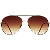 Starlight Leopard Metal Aviator Sunglasses