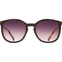 Starlight Snake Print Round Peaked Sunglasses