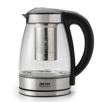 AROMA Specialty Electronics 7-Cup Glass Digital Electric Kettle with Stainless Tea Infuser Custom AWK-165DI